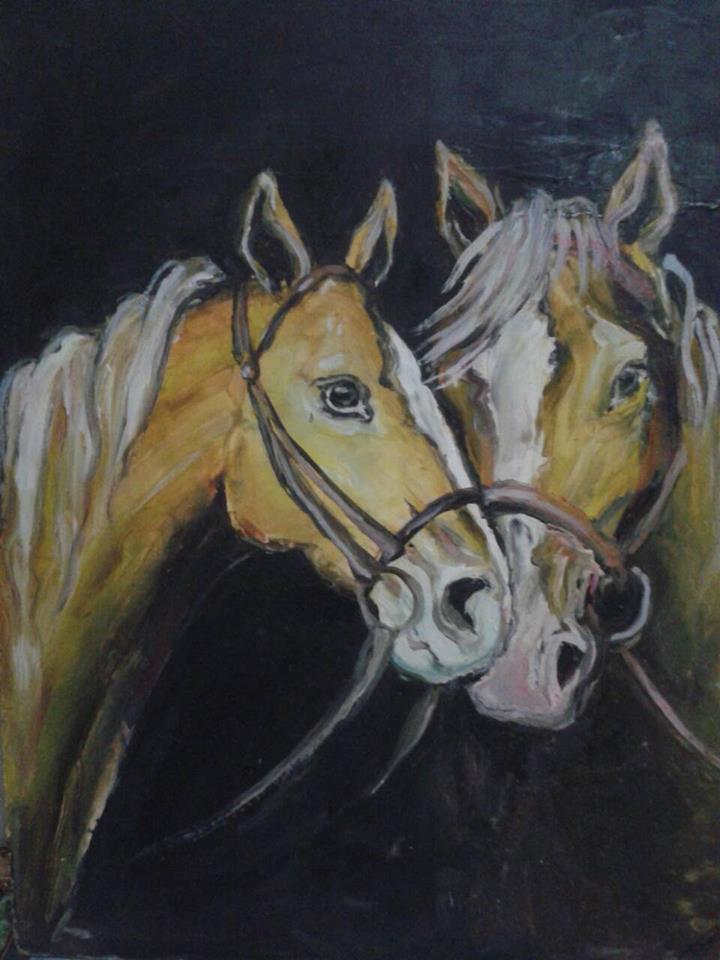 Картина с коне